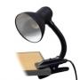 Настольная лампа с зажимом, чёрная